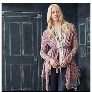 Anthropologie 'Field Flower' Wrapped Cardigan NW L